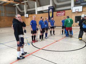 Das Team vor der Partie gegen Prag